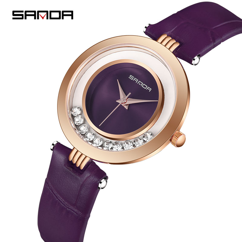 SANDA Waterproof Women Quartz Watches Luxury Ladies Fashion Diamond Casual Wristwatches Clock relogio feminino zegarek damskiSANDA Waterproof Women Quartz Watches Luxury Ladies Fashion Diamond Casual Wristwatches Clock relogio feminino zegarek damski
