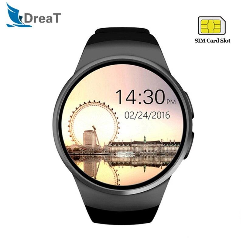 KW18 montre intelligente hommes fréquence cardiaque podomètre Sport étanche Smartwatch Support SIM TF carte Bluetooth appel montre-bracelet pour Android