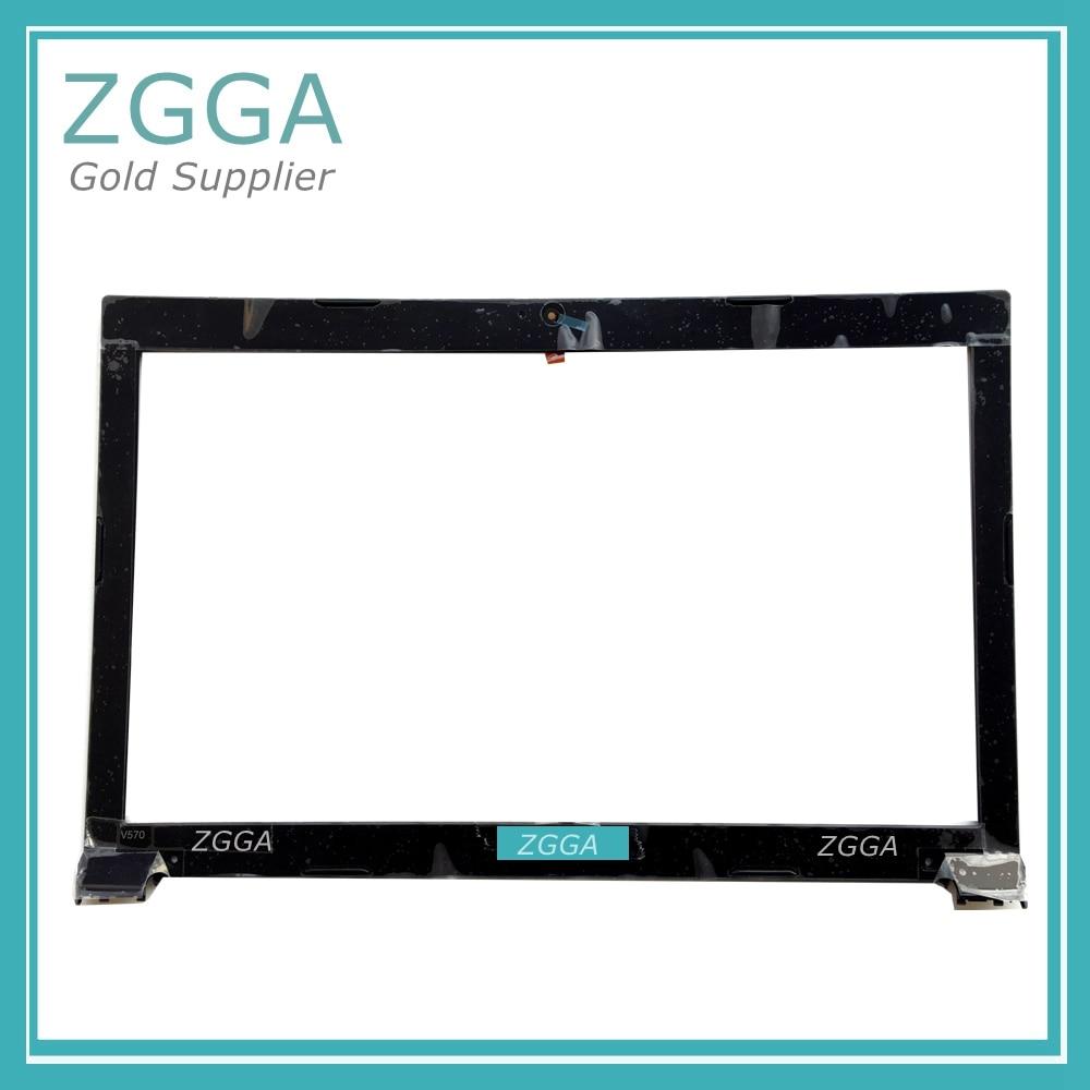 Genuine NEW Laptop LCD Front Bezel For Lenovo IdeaPad V570 V575 Screen Frame Glossy Black With