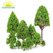 Новые 12 шт./лот модели деревьев архитектурные модели макет железной дороги сад пейзаж декорации игрушки подарки игрушки для детей