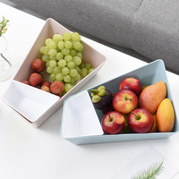 1 PCS Nordic creative shape fruit plate Plastic multi function candy plate Jewelry storage box food storage container ZP12241103
