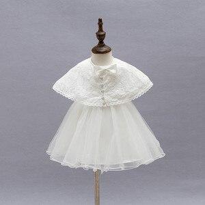 Image 5 - 2 adet/takım kız bebek elbisesi 3 24 ay bebek resmi elbiseler doğum günü ve düğün vaftiz önlükler vaftiz giysi TS46