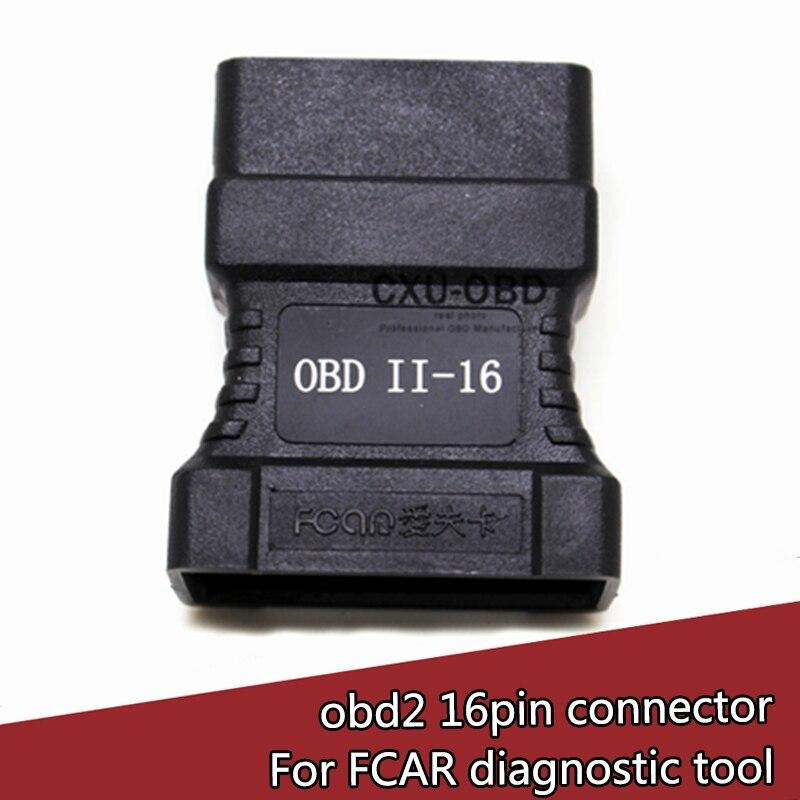 FCAR OBD-II-16 Pin Connector for F3-A F3-W F3-D F3-G F3S-W F6-D OBD-II Adpater Car Scanner OBD 2 Connecter OBD2 Adaptor blanco eloscope f ii 516672