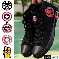 Marvel Movie Hero Thanos/Captain/Iron Man High Heel Breathable Canvas Uppers Sneakers College Trendy High topped A193291