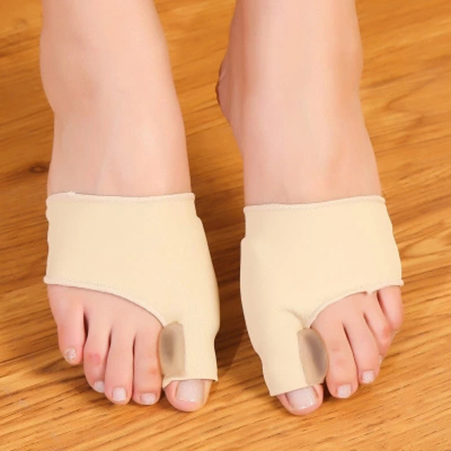 1Pair Big Bone Orthopedic Bunion Correction Pedicure Socks Silicone Hallux Valgus Corrector Braces Toes Separator Feet Care Tool 3