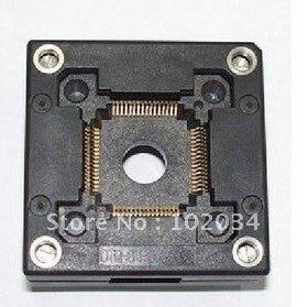 100% NEW QFP64 TQFP64 IC Test Socket (OTQ-64-0.65-08) imports of ic test seat otq 100 0 65 03 burning qfp100 adapter conversion