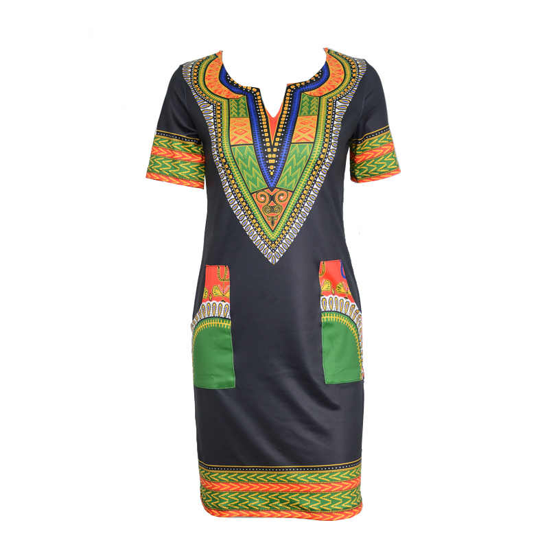 27f275f89f ... 2018 African dresses for women Vintage Dashiki Dress Robe Casual  African Print Ladies Indian Dresses Plus ...