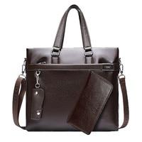 2 Sets Promotion Designers Brand Men S Messenger Bags PU Leather Oxford Vintage Men Handbag Man