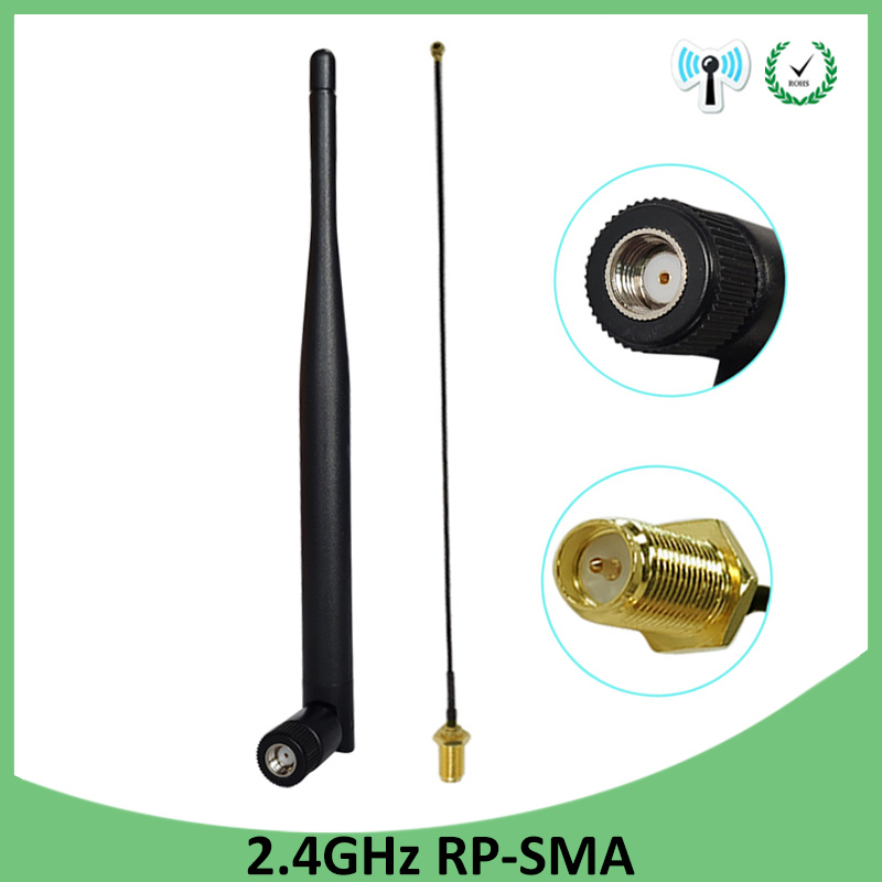 2.4ghz 2.4g Wifi Antenna Wifi 5dbi Wifi Aerial Rp-sma Male Router +21cm Pci U.fl Ipx To Rp Sma Male Pigtail Cable