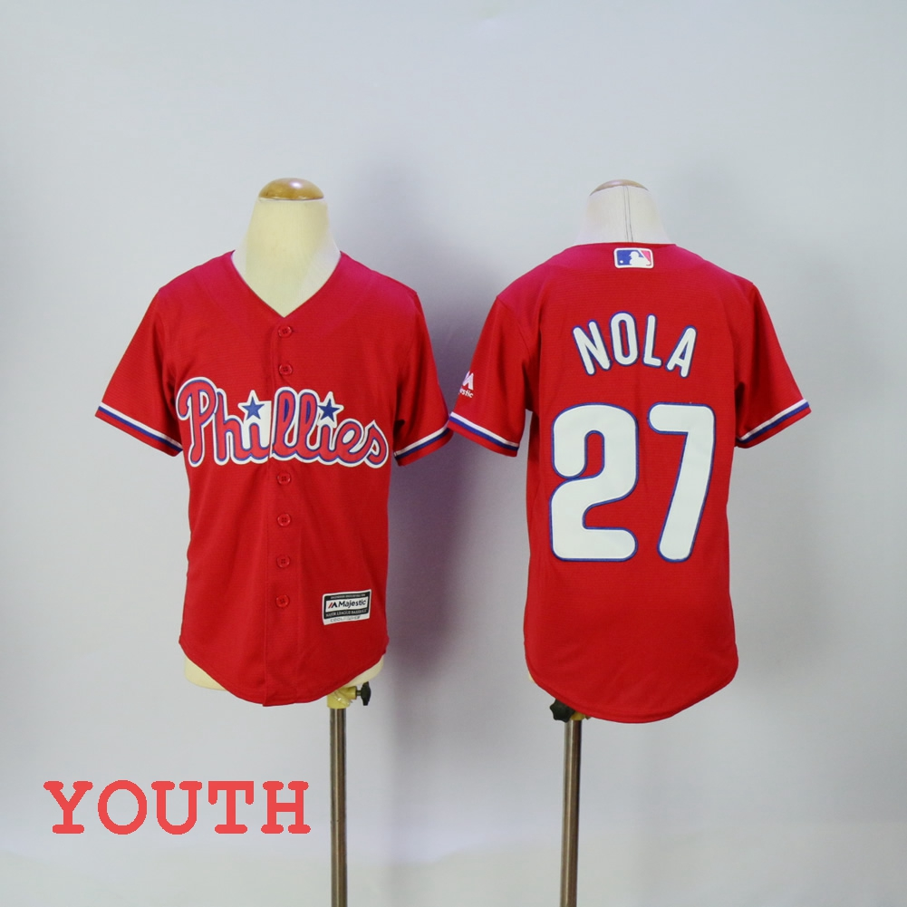 MLB Youth Philadelphia Phillies Aaron Nola Flex base jersey