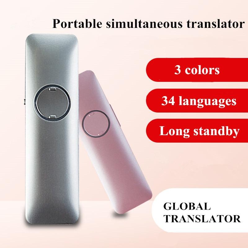 Traducteur vocal peut traduire 34 langues traduction simultanée Bluetooth assistant bilingue pour voyage à l'étranger