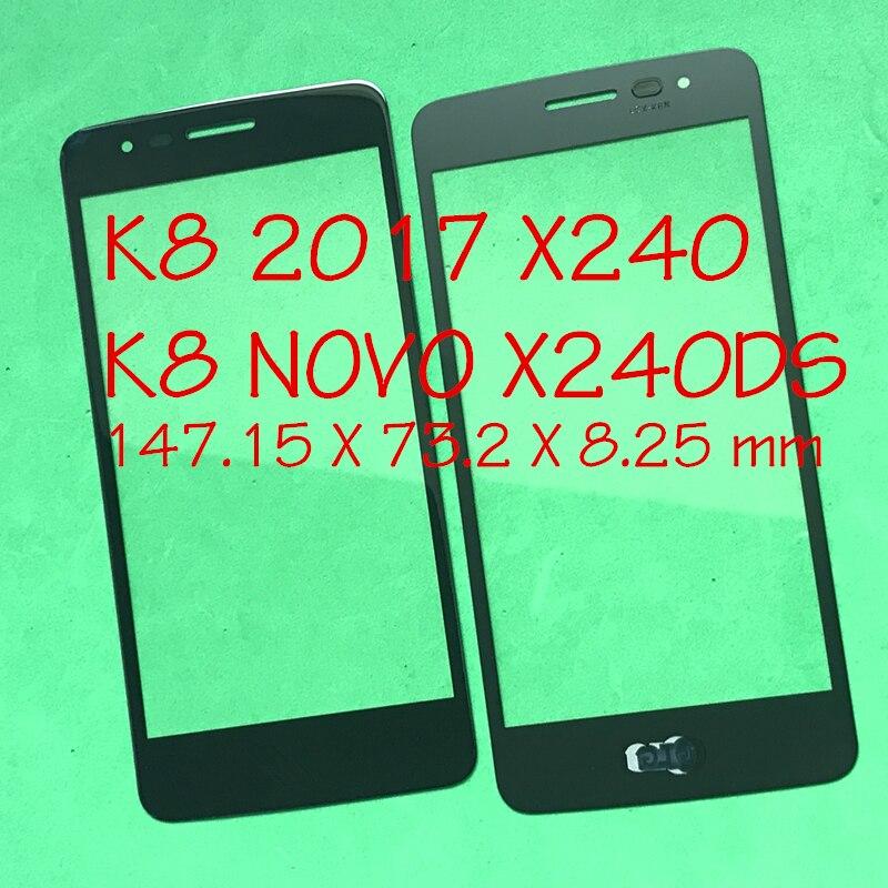 LCD de remplacement Avant Tactile En Verre Extra Objectif Pour LG K8 2017X240 K8 Novo X240DS