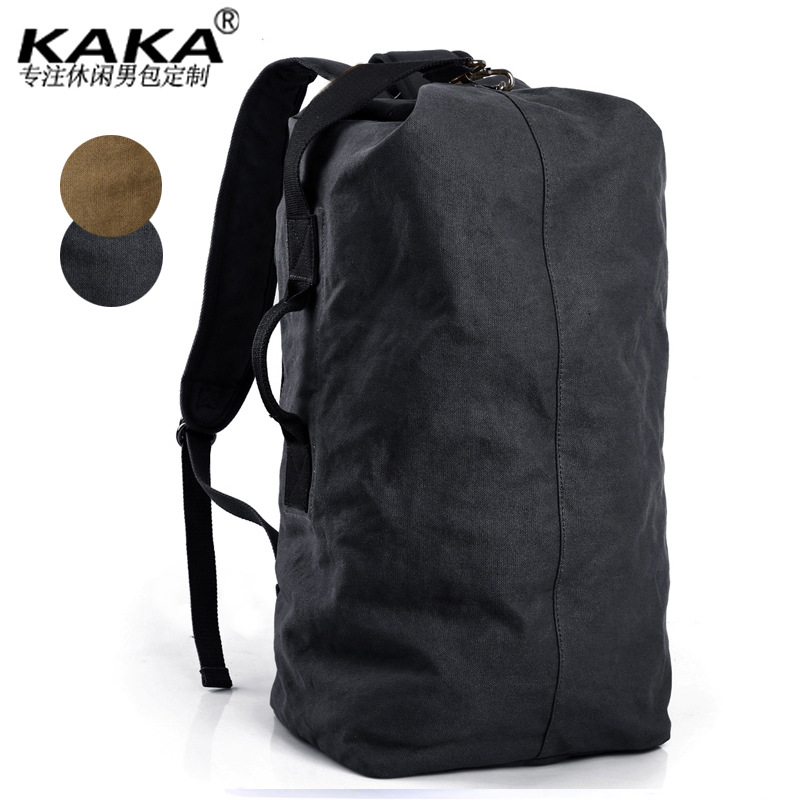 NEW European and American Style Large Capacity Canvas Backpack Multi-funtion Men Travel Bag High Quality Shoulderbags 929 high quality authentic famous polo golf double clothing bag men travel golf shoes bag custom handbag large capacity45 26 34 cm
