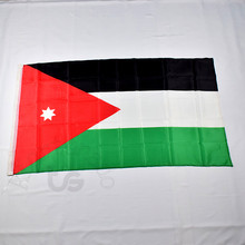 Jordan Jordanian 90*150cm flag Banner blue Free shipping 3x5 Foot National flag for meet,Parade,party.Hanging,decoration(China)