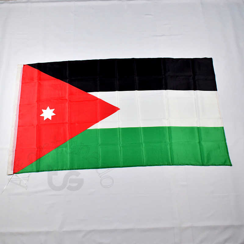 Jordan Jordanian 90*150cm flag Banner blue Free shipping 3x5 Foot National flag for meet,Parade,party.Hanging,decoration