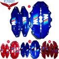 4 Tipo Universal Pinza de Freno Kit de la Cubierta de Tamaño M + S Styling Car decoración Para BMW Ajustar Al Tamaño De La Rueda 17 Pulgadas Y bajo
