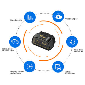 Image 2 - Vgate iCar פרו OBD2 elm327 אבחון סורק Bluetooth 4.0 אבחון כלי ELM327 V2.2 סורק עבור IOS/אנדרואיד קוד קורא