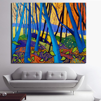 2016 David Hockney Winter Wood painting with oil Enormous Sizes Canvas Print Poster For Wall Painting Abstract Canvas Prints