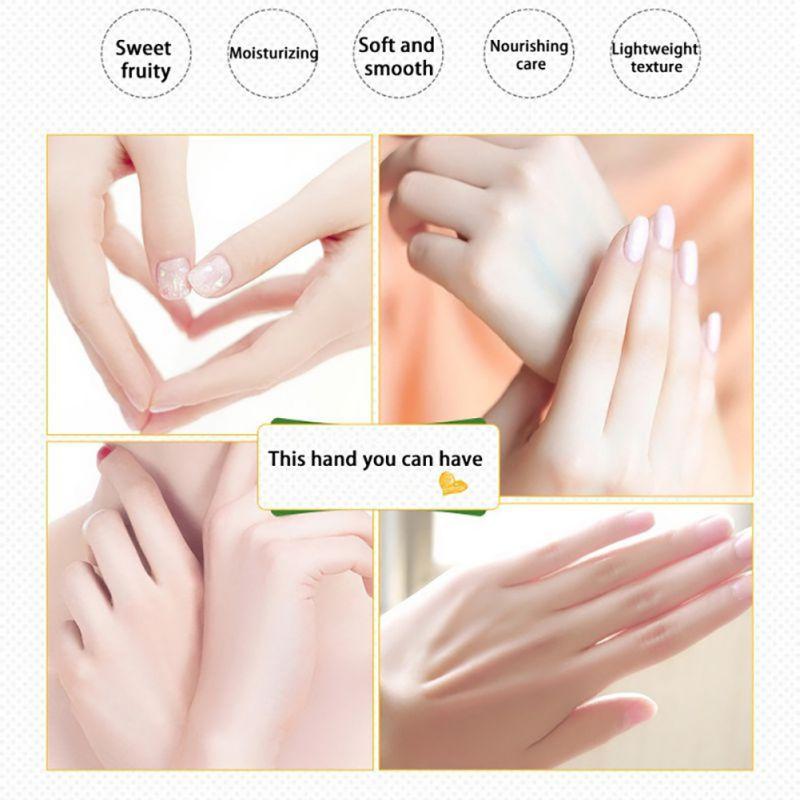 1pcs Portable Hand Milk Cream Peach /Mango Furit Antiaging Moisturizing Hand Skin Care Creamxgrj 7