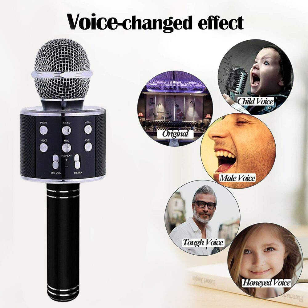 Micrófono de Karaoke inalámbrico con Altavoz Bluetooth Instagram 5000 + me gusta iPhone Android PC Smartphone micrófono portátil de mano