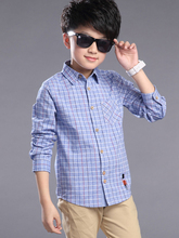 Thumbaby 5-12 Years Boys Shirts For Children Kids Fashion Casual Shirts Boys Cotton Plaid Shirts Boys Clothing Boys Kids Shirts