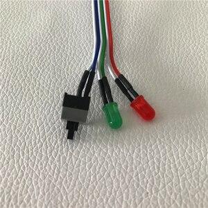 Image 3 - PC de bureau ordinateur châssis commutateur réinitialiser bouton disque dur statut alimentation LED câble LED 65cm