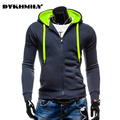 Men's Leisure  Cardigan Hoodies Zipper Color Slim Fashion Hoodies Men  Hip Hop Hoodies  Sportwear Men Size M~3xl