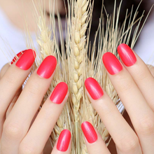 Oval Red Fake Nails Short Glossy Rounded Impress Press On Nails Medium For Girls Acrylic Nail False Artificial Fingernails Fake
