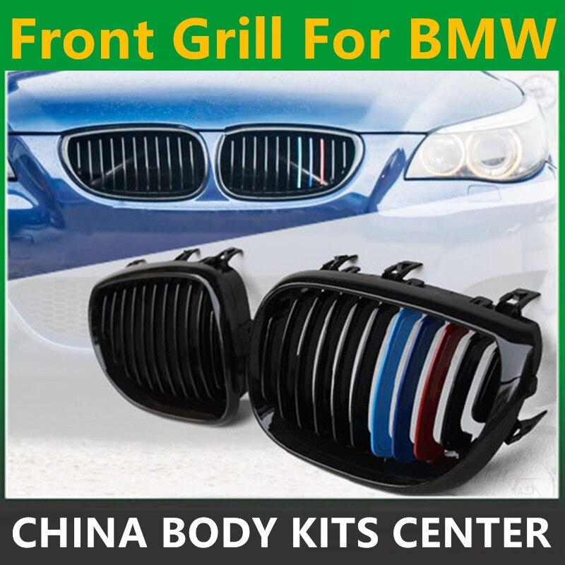 Автомобиль Стиль передняя радиатор гоночных грили глянцевый черный м-Цвет передняя почек решетка для BMW E60 и E61 5 серии седан 2003-2010 для автомобиля
