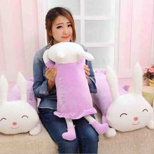 70cm Lovely Lie prone rabbit cute Squint rabbit 3 color can select  stuffed aniaml valentine 's day  gifts
