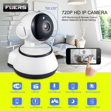 hot deal buy fuers 720p ip camera wi-fi wireless home security camera surveillance mobile view wifi ip camera night vision alarm baby monitor
