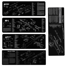 Mosin Nagant K98 k Mossberg Gun Cleaning Rubber Mat With Parts Diagram and Instructions Armorers Bench Mat Ruger MP5 Mouse Pad