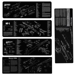 Image 1 - Mosin nagant K98 k Mossberg silah temizleme kauçuk paspas parçaları diyagramı ve talimatlar Armorers tezgah Mat Ruger MP5 mouse Pad