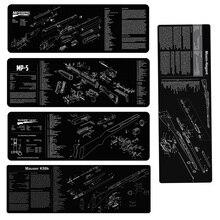 モシン nagant K98 18kモスバーグ銃クリーニングゴムマットとdiagramと指示armorersベンチマットルガーMP5 マウスパッド