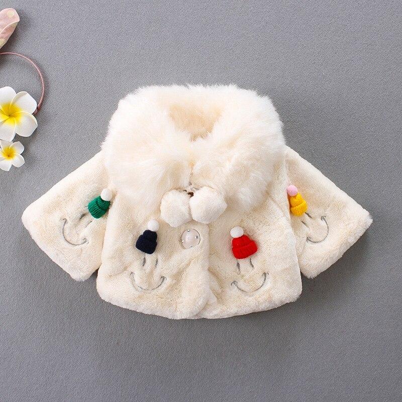 Girls Clothes Autumn Winter Baby Girls Coat Faux Fur Balls Infant Kids Outerwear Princess Toddler Jacket Coats