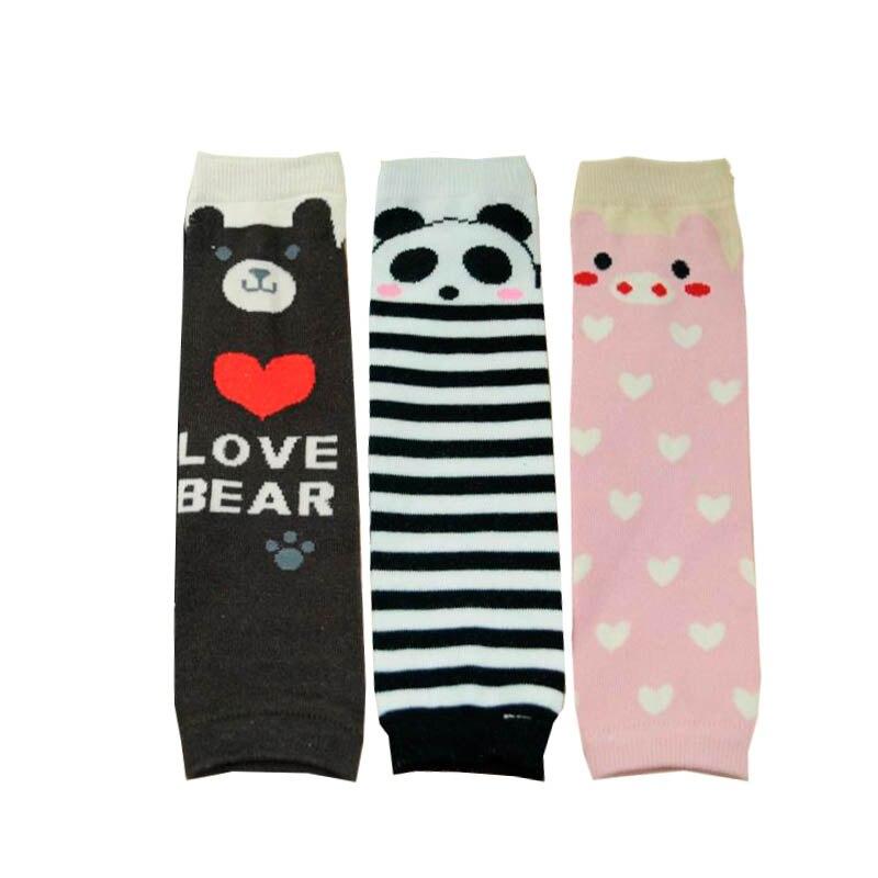 Karikatür Bacak sıcak Çocuklar Sıcak Bacak Isıtıcıları Bebek Hayvan Panda Ayı Domuz Desen Bebek Diz Yüksek Çorap Erkek Kız Legwarmer
