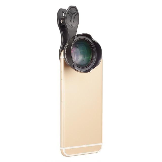 APEXEL Universal 3x telephoto Zoom Phone Lens Tele Camera Lens Kit 65MM lens For iPhone 7 8 Plus Samsung Mobile Phones APL-65MM 1