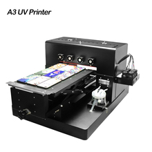 2019 A3 UV Inkjet Printer LED UV Printing Machine for Customize Phone Case Wood Metal Acrylic Glass Signs PVC Card Leather