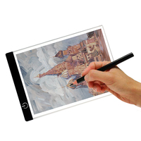 Computer USB A4 LED Artist Thin Art Stencil Drawing Board Light Box Tracing Table Pad Supports
