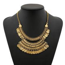 Ожерелье Стразы в стиле ретро ожерелья из металлического сплава