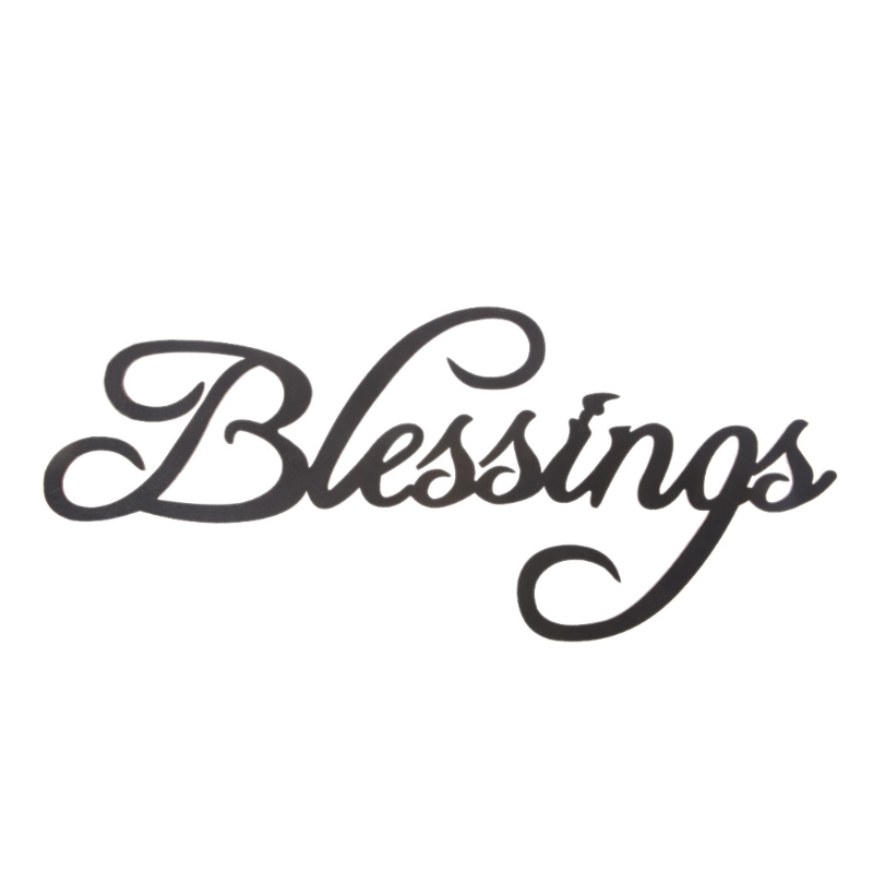 Blessings Letters Wood Hanging Sign Wall Decal Sticker Room Home Decor Ornament in Party DIY Decorations from Home Garden