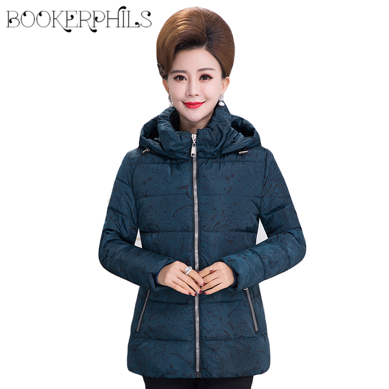 2017 Wadded Coat With Hooded Female winter jacket women Plus Size Cotton Blue Parkas Ladies Winter Coat Red Outerwear XL-5XL lstu winter jacket women 2017 fashion cotton padded hooded jacket female wadded jacket outerwear winter coat women