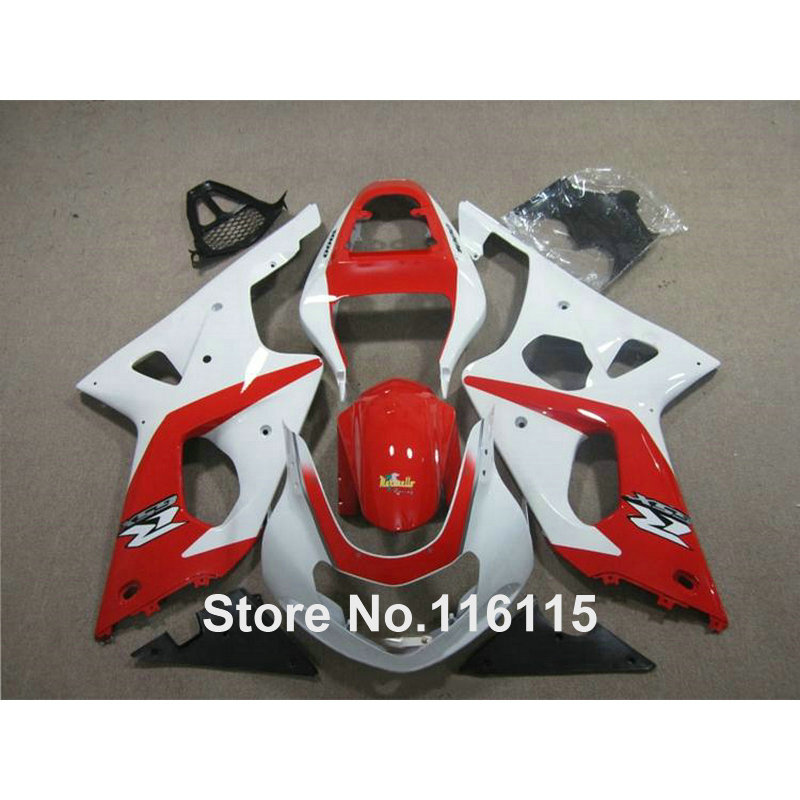 ABS motorcycle parts for SUZUKI Injection GSXR 1000 K3 K4 2003 2004 red white black fairing kit GSX-R1000 03 04 fairings YY2 injection mold 100% fit for suzuki gsxr1000 03 04 k3 silver black fairings set gsxr 1000 2003 2004 k4 yi119