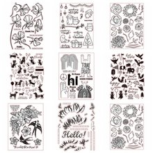 Multi Cute Flower Animal Transparent Clear Silicone Stamp For DIY Scrapbooking/Photo Album Card Making Decorative Clear Stamp