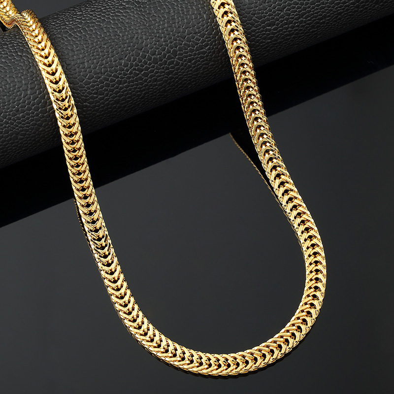 New 18K Gold Plated necklace fashion necklace men and women necklace Multi-size