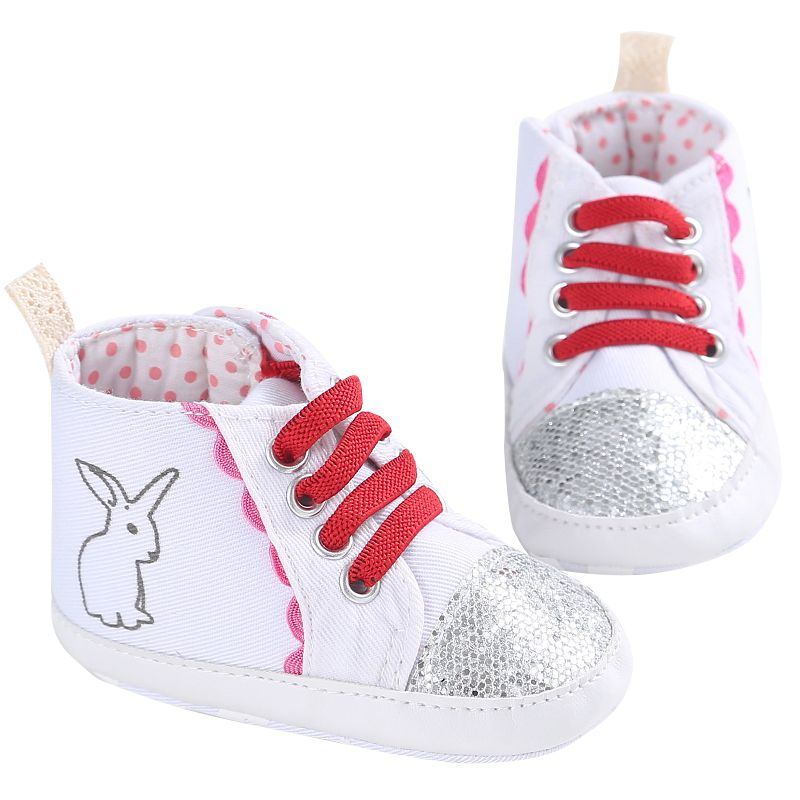 Spring Autumn Baby Cotton Fabric First Walkers Animal Prints Lace-Up Bling Spring Casual ...