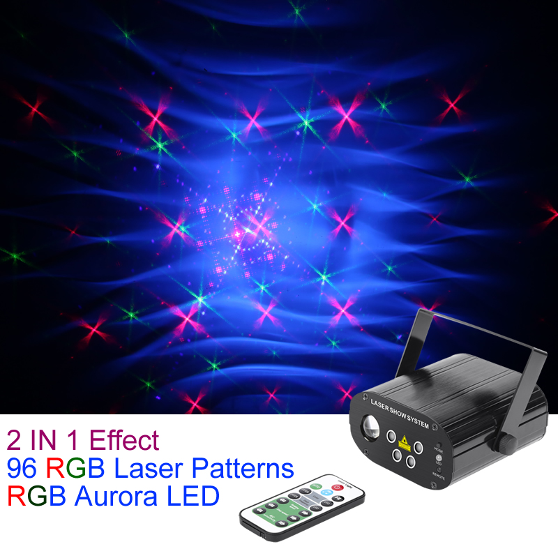 Sharelife Mini 4 Lens 96 RGRB Pattern Laser Light Mix RGB LED Aurora Remote Control Motor Speed DJ Gig Party Home Stage lightingSharelife Mini 4 Lens 96 RGRB Pattern Laser Light Mix RGB LED Aurora Remote Control Motor Speed DJ Gig Party Home Stage lighting