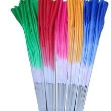 5 цветов 2 шт./1 пара дети Мулан двойной вентилятор taiji tai chi Единоборства кунг-фу Дети танец пластиковые ребра вентиляторы синий/зеленый/красный