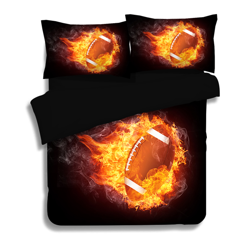 New HD 3d bedding bed linens Rugby Basketball Football Tennis duvet cover cotton bedding set queen 3PCS adult bedclothes US SizeNew HD 3d bedding bed linens Rugby Basketball Football Tennis duvet cover cotton bedding set queen 3PCS adult bedclothes US Size