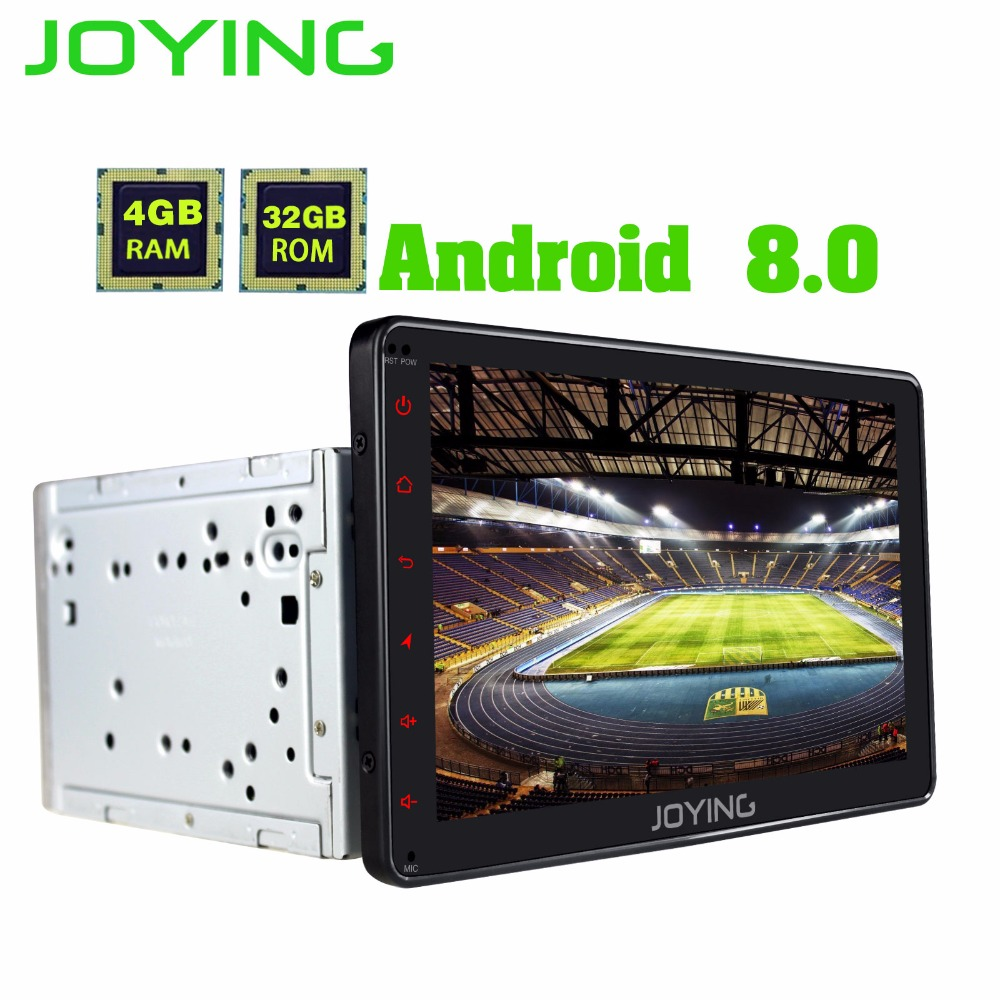 JOYING radio cassette recorder 2 din car stereo for Toyota Corolla/RAV4 4GB RAM HD 1024*600 android 8.0 head unit for Prado/Echo